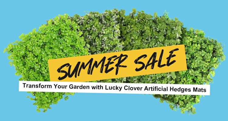 Transform Your Garden with Lucky Clover Artificial Hedges Mats-- Summer Sale