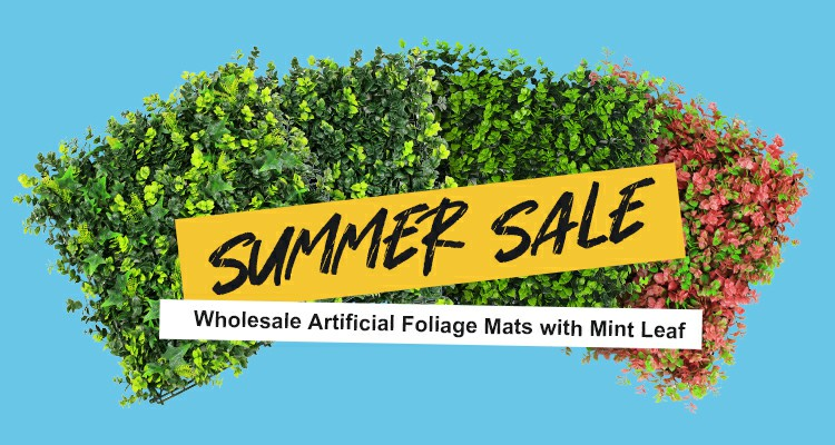 artificial foliage mats with mint leaf for summer sale