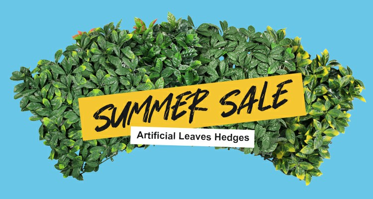 artificial leaves hedges for summer sale main