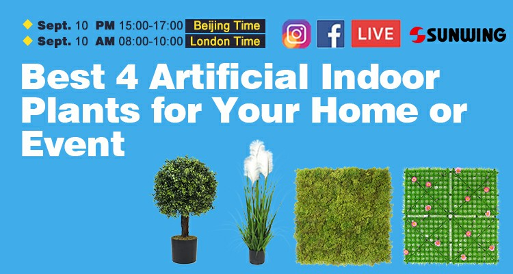Best 4 Artificial Indoor Plants for Your Home or Event
