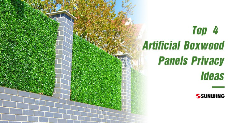 Top 4 Artificial Boxwood Panels Privacy Ideas